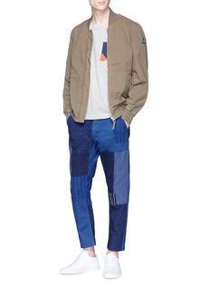 FDMTL 拼接设计水洗露踝牛仔裤
