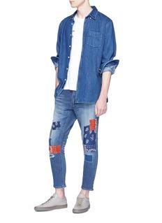 FDMTL Bandana patchwork cropped jeans
