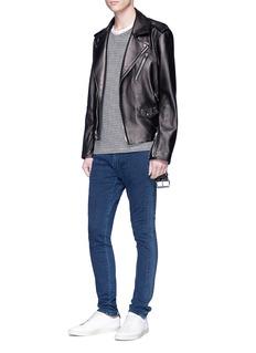 J Brand 'Parallax Moto' stripe outseam jeans