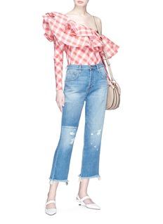 J Brand 'Wynne' frayed hem cropped jeans