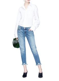 J Brand 'Sadey' frayed cuff ripped jeans