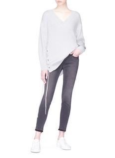 Frame Denim 'Le Skinny De Jeanne' frayed cuff cropped jeans