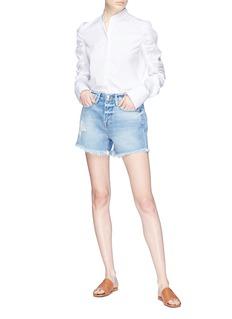 Frame Denim 'Le Stevie' frayed denim shorts