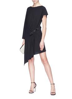 Lanvin Bow ruched asymmetric dress