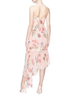 Nicholas 'Lilac' ruffle floral print silk georgette dress