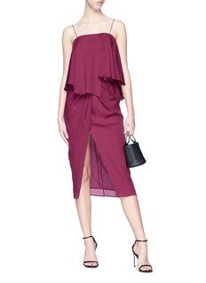 Nicholas Drape split front silk georgette skirt