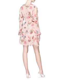 NICHOLAS Lilac搭叠荷叶边丁香花镂空连衣裙