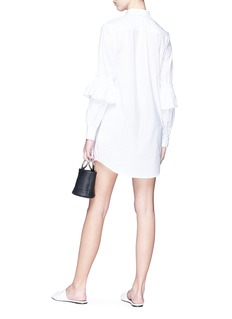 Nicholas Ruffle sleeve poplin shirt dress