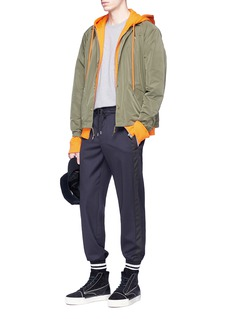 Public School 'M.K' Stripe outseam virgin wool twill jogging pants