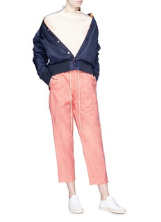 bassike Drawstring topstitch cropped pants