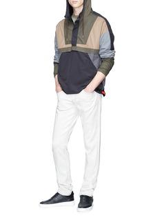 John Elliott 'Sail' colourblock half zip windbreaker hoodie