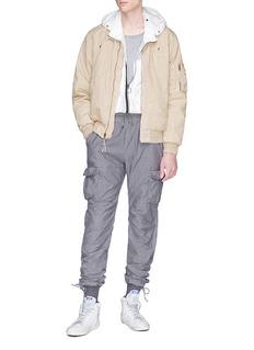 John Elliott Washed poplin padded bomber jacket