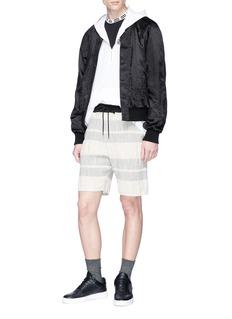 John Elliott Contrast waist stripe shorts