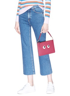 Anya Hindmarch 'Eyes' large leather zip top pouch