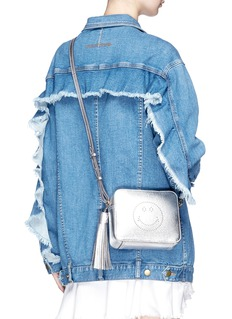 Anya Hindmarch 'Smiley' metallic leather crossbody bag