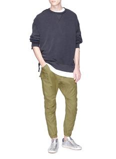 R13 Tonal patchwork sweatshirt
