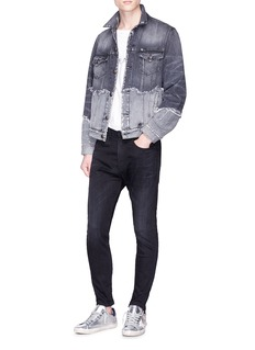 R13 'Double Shredded Sky Trucker' denim jacket