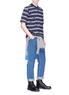 Sacai Heart print stripe T-shirt