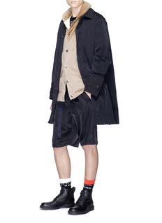 Sacai Velvet panel padded vest