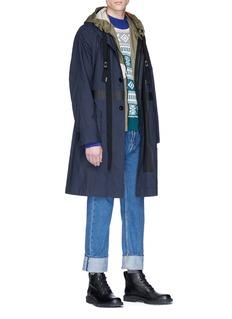 Sacai Colourblock Fair Isle jacquard sweater