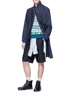 Sacai Belted twill shorts