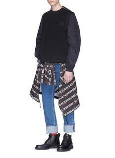Sacai Contrast sleeve sweater