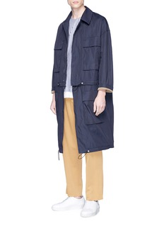 FFIXXED STUDIOS Detachable hem cargo pocket coat