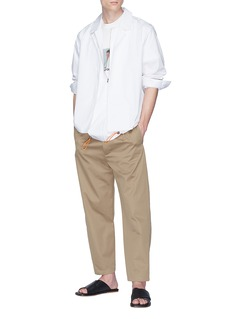 FFIXXED STUDIOS Drawcord hem layered shirt jacket