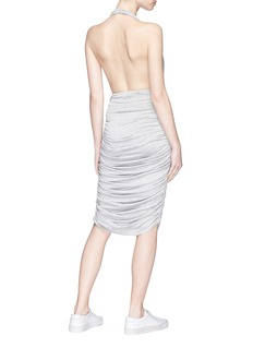 Norma Kamali Ruched jersey halterneck dress