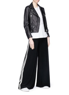 Norma Kamali Stripe outseam jersey elephant pants
