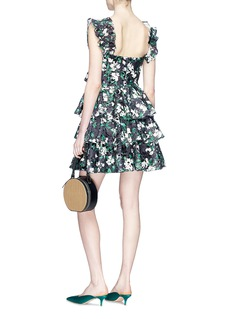 Caroline Constas 'Nella' off-shoulder ruffle poplin dress