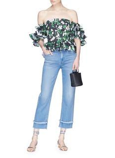 Caroline Constas 'Justina' ruffle floral print off-shoulder top