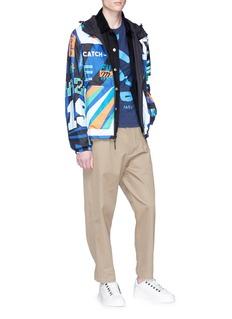 KENZO Reversible slogan print hooded windbreaker jacket