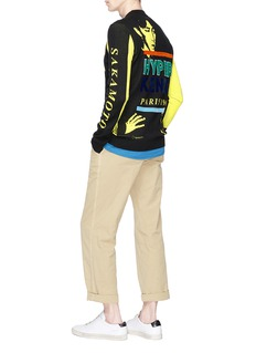 KENZO 'Sakamoto' chenille patch intarsia sweater
