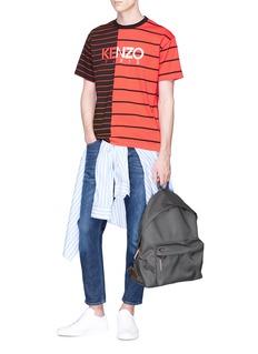 KENZO Logo print colourblock stripe T-shirt