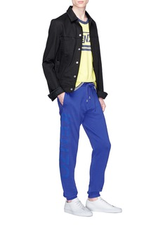 KENZO Logo print outseam sweatpants