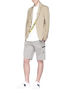 GEYM Logo strap soft blazer