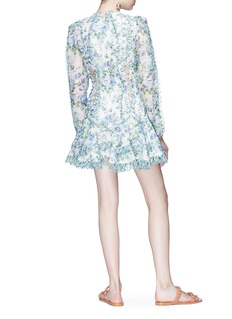 Zimmermann 'Whitewave Laced' cutout floral print organza flip dress