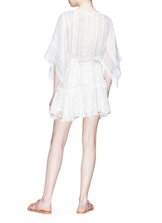 Zimmermann 'Whitewave Veil' belted pintuck lace trim mini dress