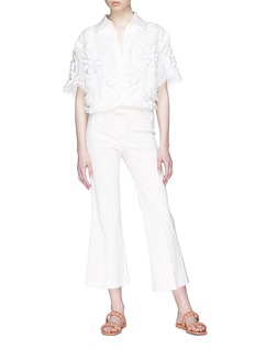 Zimmermann 'Whitewave Doily' broderie anglaise shirt