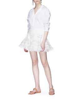 Zimmermann 'Whitewave Doily' broderie anglaise mini skirt