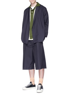 Sunnei Pleated twill shorts