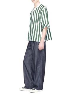 Sunnei Stripe poplin T-shirt