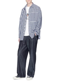 Sunnei Mix stripe shirt