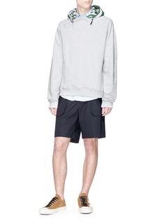 Sunnei Detachable hood cotton hoodie