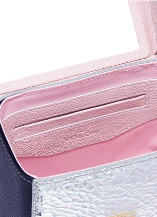 Detail View - Click To Enlarge - THE VOLON - 'Box Basic' sculpted handle colourblock crossbody bag