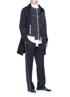VALENTINO 车缝线点缀混棉夹克