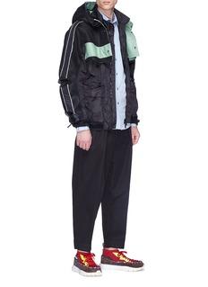 Valentino Detachable colourblock panel jacket
