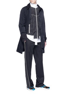Valentino Contrast stitch outseam track pants