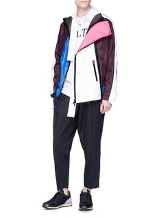 Valentino Colourblock mesh panel jacket
